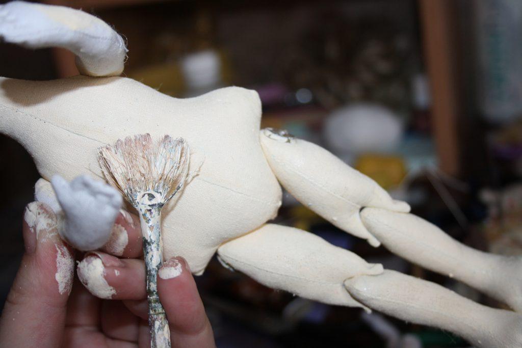 Тонируем тело куклы