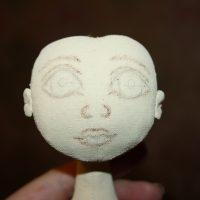 Прорисовка лица куклы пастелью
